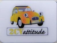 Mini magnet 2cv jaune