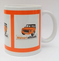 Mug panorama Méhari orange
