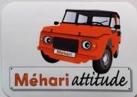 Autocollant Vinyle brillant Méhari orange