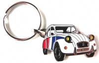 Porte clé métal 2cv cocorico