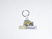 Porte clés plastique souple avec logo 2cv attitude