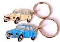 Portes clef métal Dyane beige+bleu