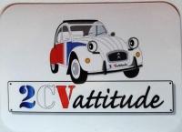Autocollant Vinyle brillant 2CV cocorico