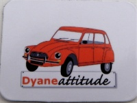 Mini magnet Dyane orange