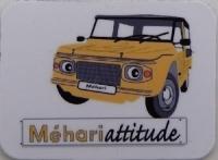 Mini magnet Méhari jaune