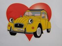 Adhesif Logo 2cv avec coeur