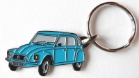 Porte clé métal Dyane bleu