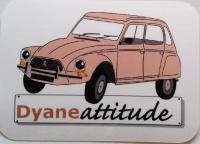 Autocollant Vinyle brillant Dyane beige