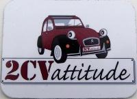 Moyen magnet 2CV  rouge et noire