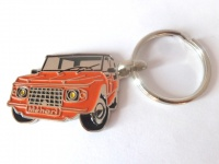 Porte clé métal Méhari orange