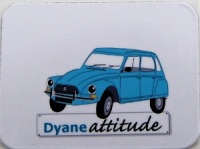 Mini magnet Dyane bleue