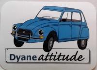 Autocollant Vinyle brillant Dyane bleue