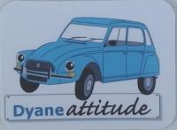 Grand magnet Dyane bleue