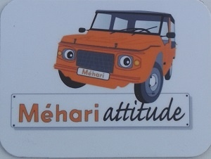 Moyen magnet Mehari orange