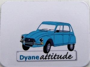 Moyen magnet Dyane bleue